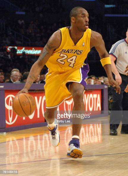 Kobe Bryant of the Los Angeles Lakers drives to the basket during 8886 loss to the Memphis Grizzlies in NBA basketball game at the Staples Center in...
