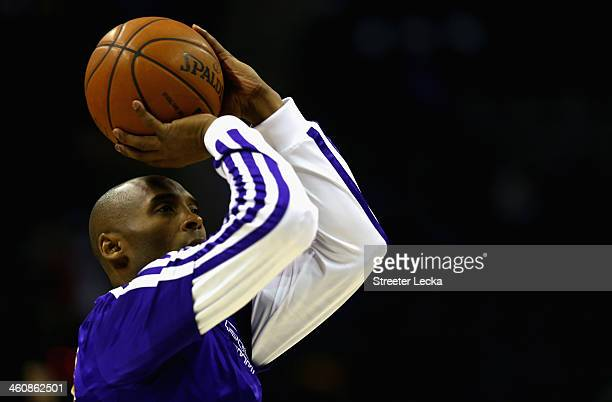 Kobe Bryant of the Los Angeles Lakers during their game at Time Warner Cable Arena on December 14 2013 in Charlotte North Carolina NOTE TO USER User...