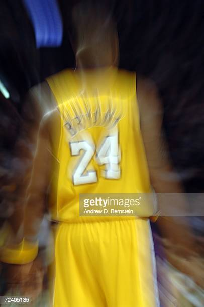Kobe Bryant of the Los Angeles Lakers looks on during the game against the Seattle Supersonics on November 3 2006 at Staples Center in Los Angeles...