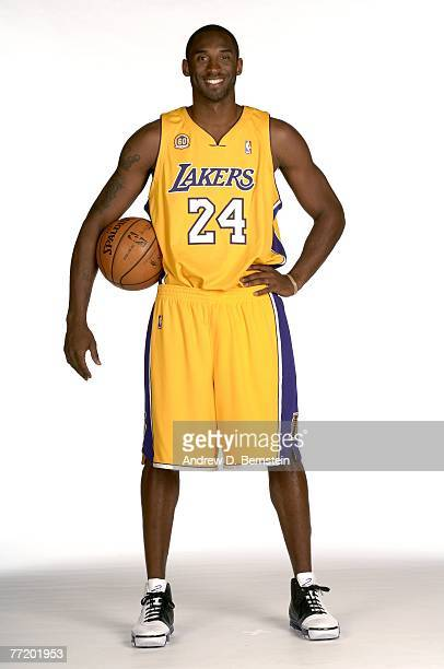 Kobe Bryant of the Los Angeles Lakers poses during media day at Toyota Training Center on October 1 2007 in El Segundo California NOTE TO USER User...