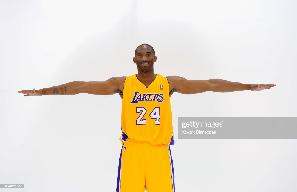 <a gi-track='captionPersonalityLinkClicked' href=/galleries/search?phrase=Kobe+Bryant&family=editorial&specificpeople=201466 ng-click='$event.stopPropagation()'>Kobe Bryant</a> #24 of the Los Angeles Lakers poses during Media Day at the Toyota Center on September 25, 2010 in El Segundo, California.