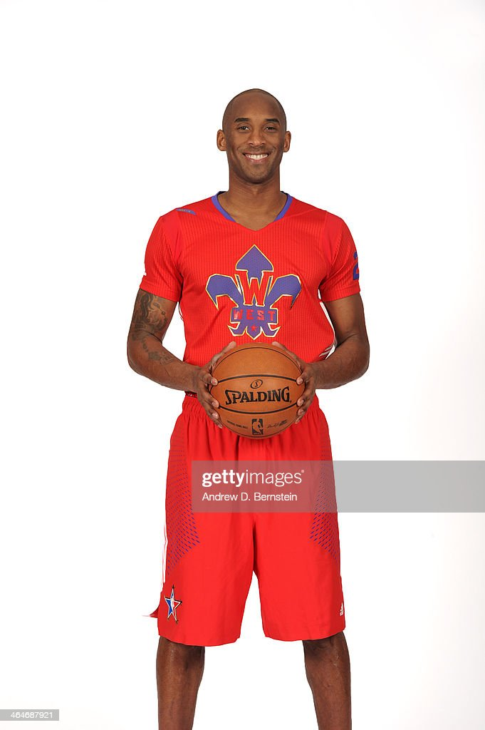 Kobe Bryant #24 of the Los Angeles Lakers poses for a portrait in the 2014 All-Star Uniform being named a starter on January 14, 2014 at Staples Center in Los Angeles, California.