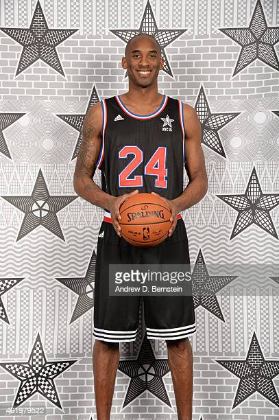 Kobe Bryant of the Los Angeles Lakers poses for an All Star Starter photo at STAPLES Center on January 22 2015 in Los Angeles California NOTE TO USER...