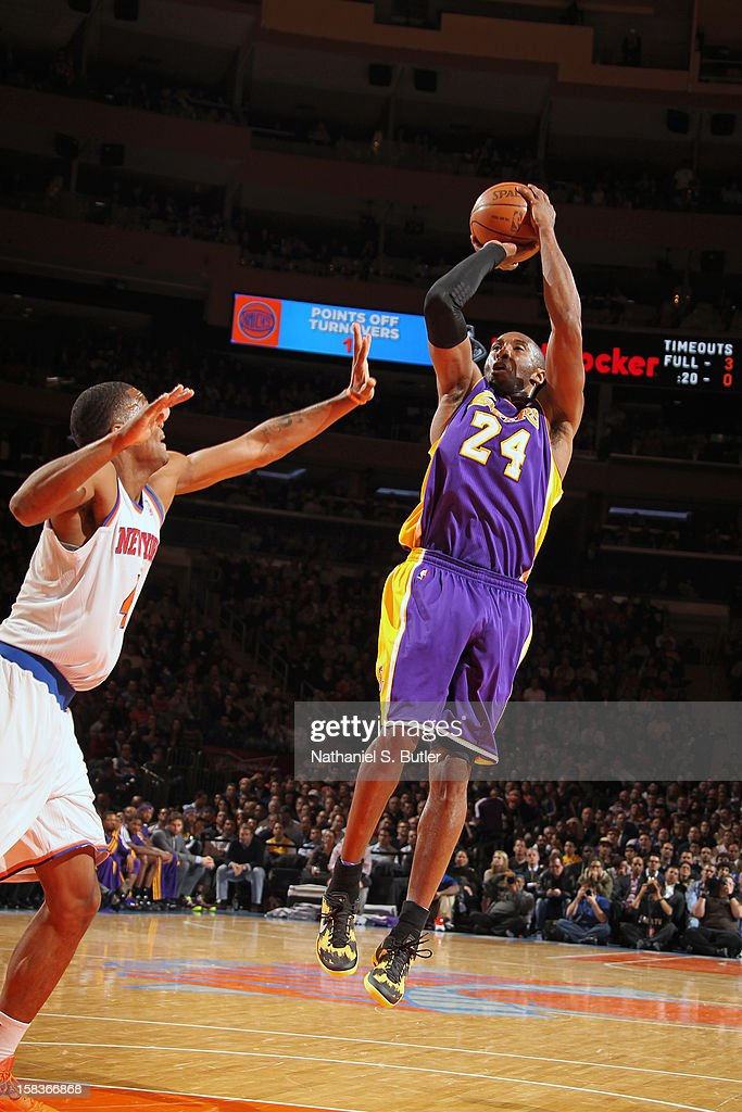 <a gi-track='captionPersonalityLinkClicked' href=/galleries/search?phrase=Kobe+Bryant&family=editorial&specificpeople=201466 ng-click='$event.stopPropagation()'>Kobe Bryant</a> #24 of the Los Angeles Lakers shoots against the Los Angeles Lakers on December 13, 2012 at Madison Square Garden in New York City.