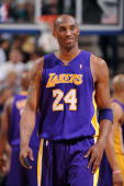 Kobe Bryant of the Los Angeles Lakers smiles during the game against the Utah Jazz in Game Three of the Western Conference Semifinals during the 2010...