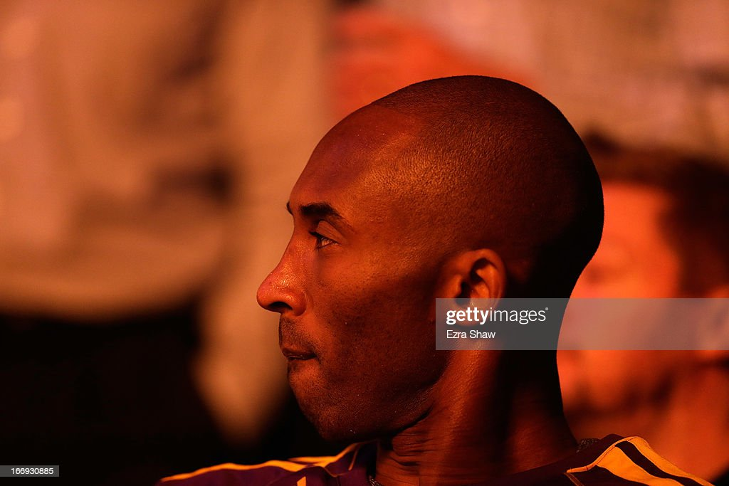 <a gi-track='captionPersonalityLinkClicked' href=/galleries/search?phrase=Kobe+Bryant&family=editorial&specificpeople=201466 ng-click='$event.stopPropagation()'>Kobe Bryant</a> #24 of the Los Angeles Lakers waits to be introduced before their game against the Golden State Warriors at Oracle Arena on March 25, 2013 in Oakland, California.