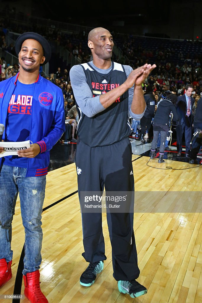 <a gi-track='captionPersonalityLinkClicked' href=/galleries/search?phrase=Kobe+Bryant&family=editorial&specificpeople=201466 ng-click='$event.stopPropagation()'>Kobe Bryant</a> #24 of the Los Angeles Lakers waves to the crowd during the NBA All-Star Practice as part of 2016 All-Star Weekend at the Ricoh Coliseum on February 13, 2016 in Toronto, Ontario, Canada.