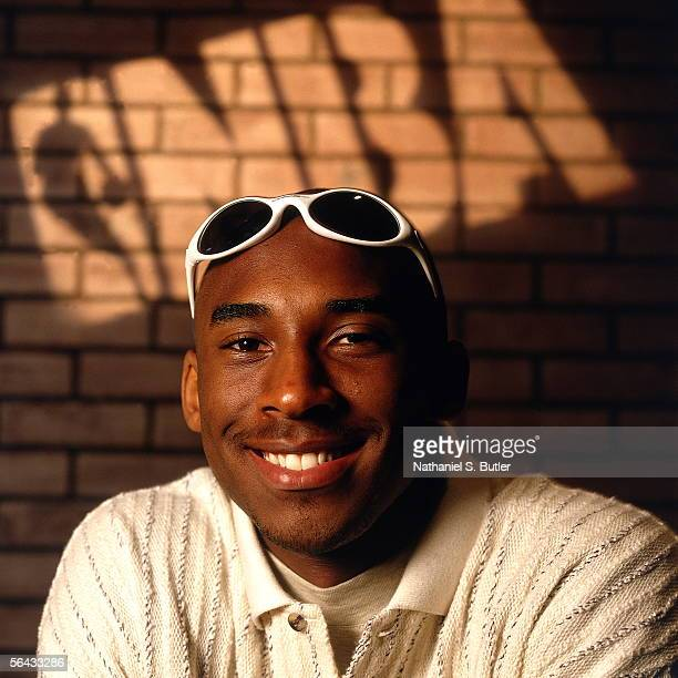 Kobe Bryant poses for a portrait during the Rookie Shoot circa June 1996 in New Jersey NOTE TO USER User expressly acknowledges and agrees that by...