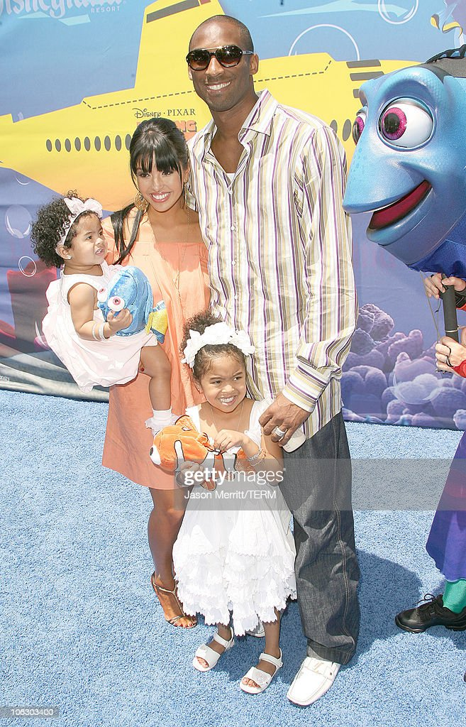 Kobe Bryant Vanessa Bryant and Family during Finding Nemo Submarine Voyage Opening Arrivals at Disneyland in Anaheim California United States