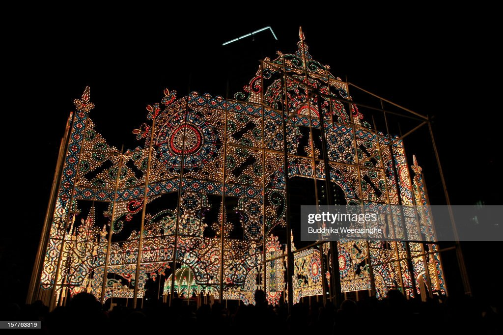 Kobe Luminarie is illuminated on December 6, 2012 in Kobe, Japan. Some 200,000 electric bulbs are lit up for the annual Japanese illumination event which begun in 1995 to commemorate the victims of the Hanshin Awaji Great Earthquake and this year will take place from December 6 - 17.
