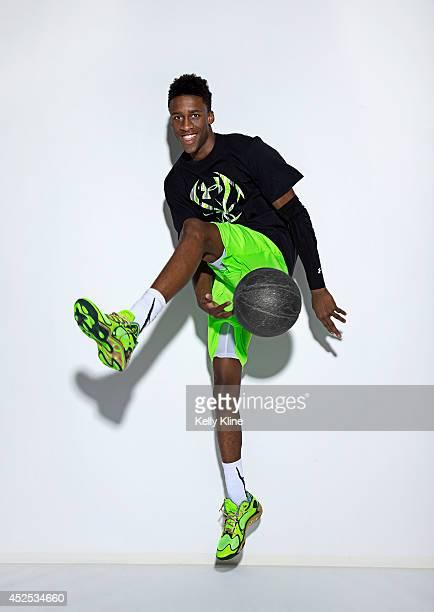 Kobi Jordan Simmons poses for a portrait during the National Basketball Players Association Top 100 Camp on June 19 2014 at John Paul Jones Arena in...
