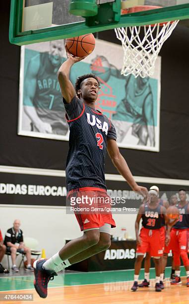Kobi Simmons in action during adidas Euriocamp Day 1 at La Ghirada sports center on June 6 2015 in Treviso Italy