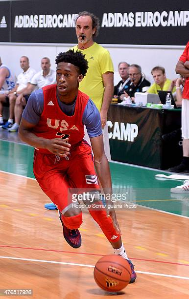 Kobi Simmons of team USA in action during adidas Eurocamp at La Ghirada sports center on June 8 2015 in Treviso Italy