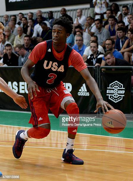 Kobi Simmons of Team USA in action during the adidas EuroCamp at La Ghirada sports center on June 7 2015 in Treviso Italy