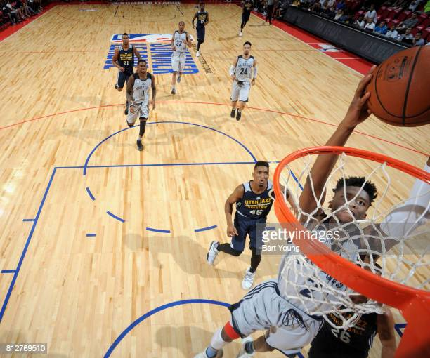Kobi Simmons of the Memphis Grizzlies goes to the basket against the Utah Jazz on July 11 2017 at the Thomas Mack Center in Las Vegas Nevada NOTE TO...