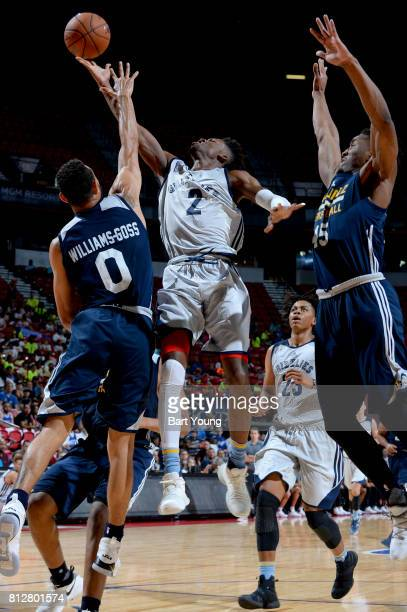 Kobi Simmons of the Memphis Grizzlies shoots the ball against the Utah Jazz on July 11 2017 at the Thomas Mack Center in Las Vegas Nevada NOTE TO...
