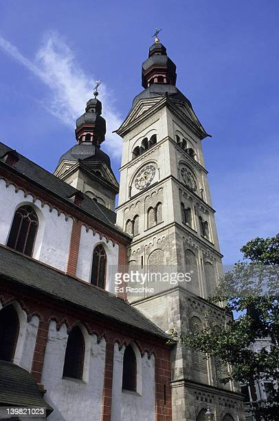 Koblenz, Germany. The Church of our Beloved Lady. Nice architecture in the Old Town. Located at the confluence of the Rhine & Mosel Rivers.