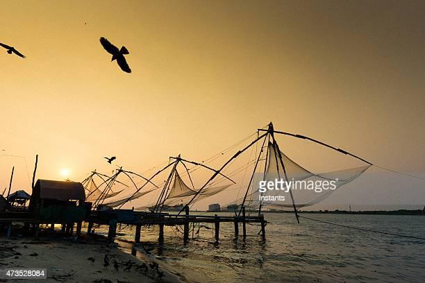 Kochi sunset in the Kerala region of India.