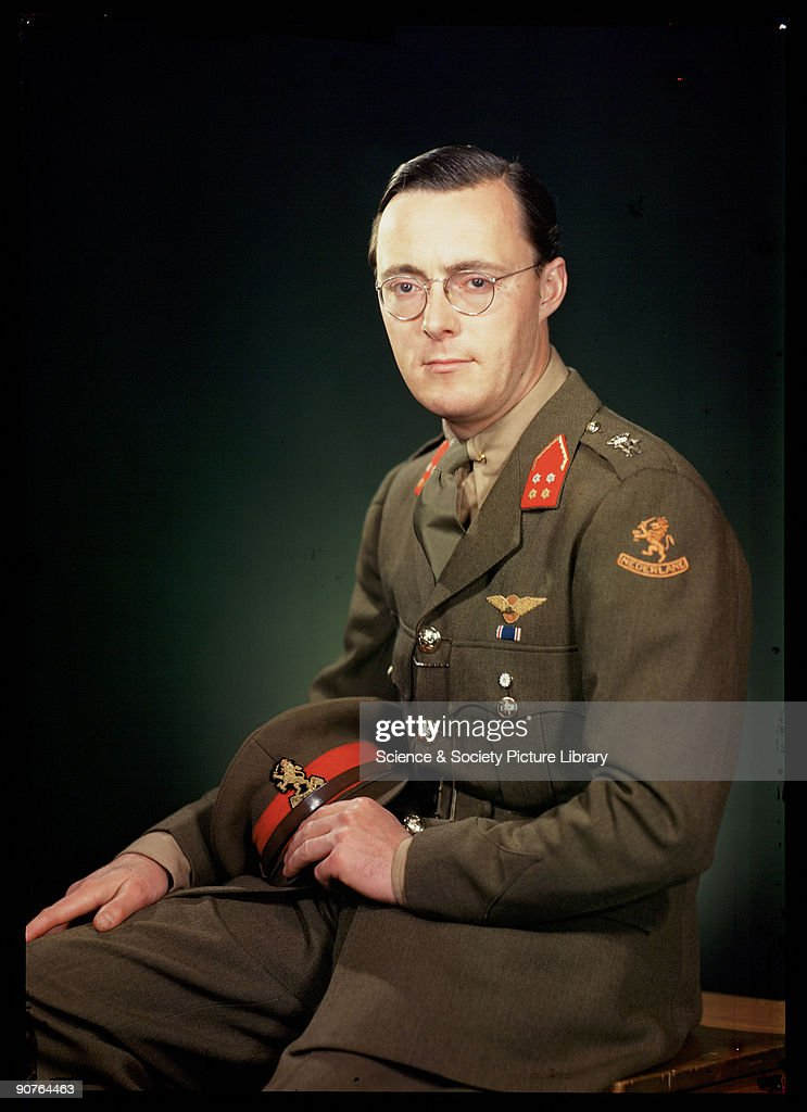 Kodachrome colour photograph of Prince Bernhard of the Netherlands taken by JCA Redhead during World War Two Prince Bernhard fled Holland for exile...