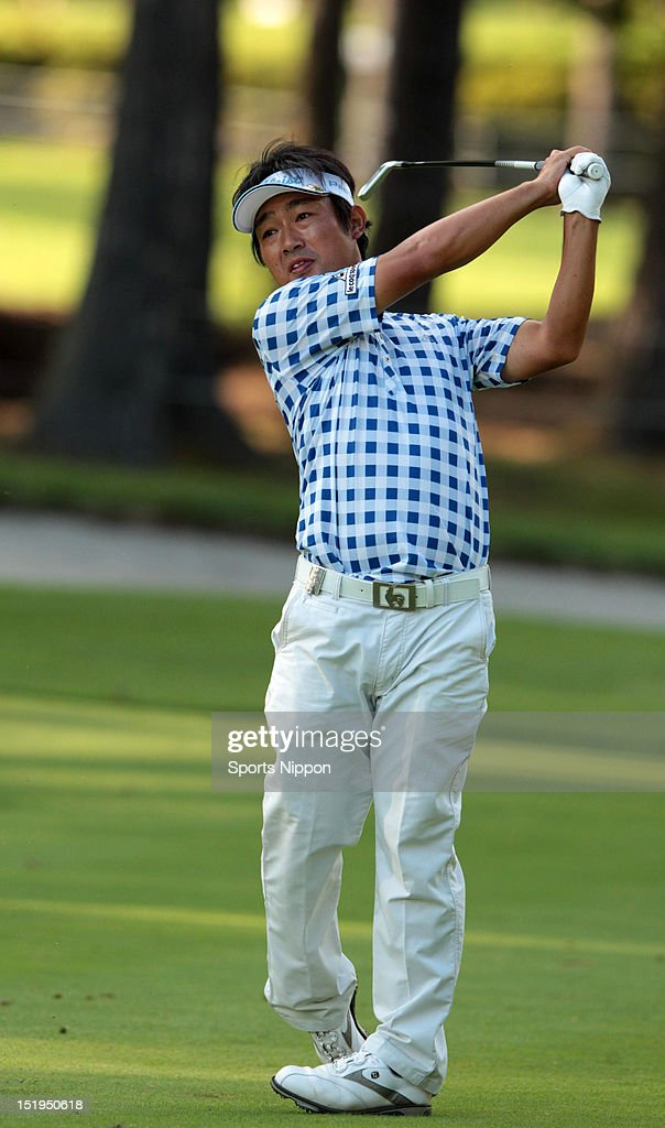 <a gi-track='captionPersonalityLinkClicked' href=/galleries/search?phrase=Kodai+Ichihara&family=editorial&specificpeople=6474254 ng-click='$event.stopPropagation()'>Kodai Ichihara</a> hits a shot during the second round of the FujiSankei Classic at Fujizakura Country Club on August 31, 2012 in Fujikawaguchiko, Yamanashi, Japan.
