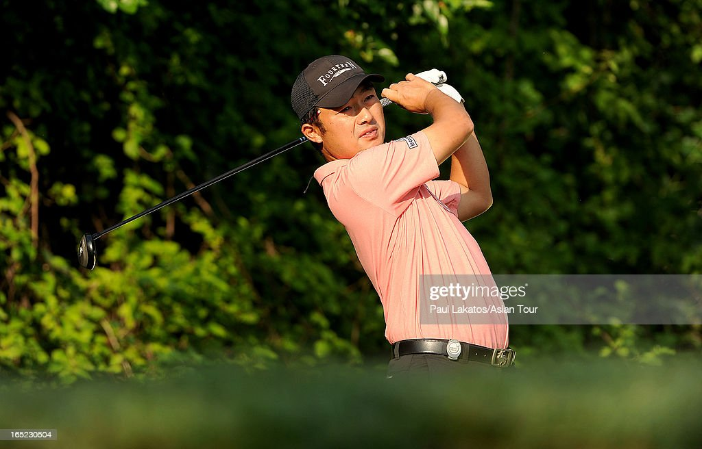 <a gi-track='captionPersonalityLinkClicked' href=/galleries/search?phrase=Kodai+Ichihara&family=editorial&specificpeople=6474254 ng-click='$event.stopPropagation()'>Kodai Ichihara</a> of Japan during previews ahead of the Panasonic Open India at Delhi Golf Club on April 2, 2013 in New Delhi, India.