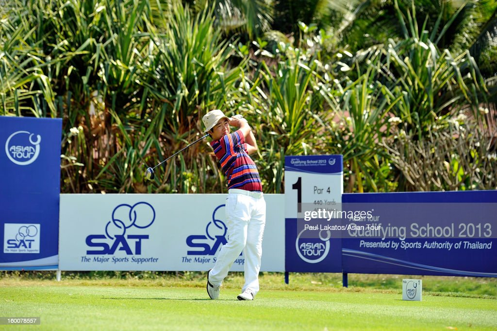 Kodai Ichihara of Japan plays a shot during round four of the Asian Tour Qualifying School Final Stage at Springfield Royal Country Club on January 26, 2013 in Hua Hin, Thailand.