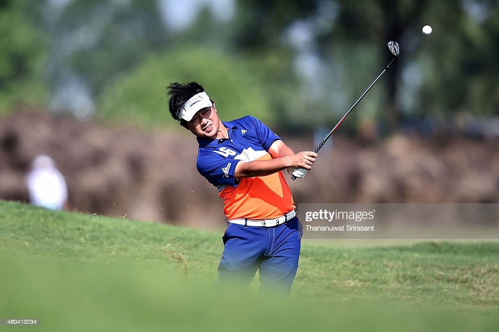 <a gi-track='captionPersonalityLinkClicked' href=/galleries/search?phrase=Kodai+Ichihara&family=editorial&specificpeople=6474254 ng-click='$event.stopPropagation()'>Kodai Ichihara</a> of Japan plays a shot during round three of the Thailand Golf Championship at Amata Spring Country Club on December 13, 2014 in Chon Buri, Thailand.