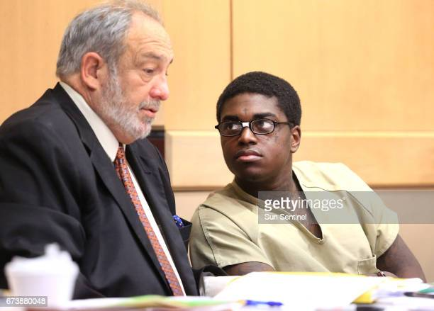 Kodak Black is in court with his Attorney Gary Kollin for the third day of his probation hearing on April 26 2017 in Fort Lauderdale Fla