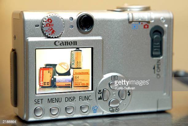 Kodak film appears on the screen of a digital pointandshoot camera July 23 2003 in San Francisco California Kodak the leading maker of photographic...