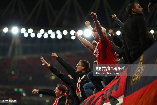 Koeln fans during the UEFA Europa League group H match between Arsenal FC and 1 FC Koeln at Emirates Stadium on September 14 2017 in London United...