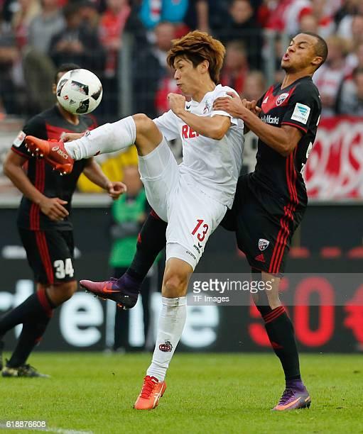 Koeln Germany 1 Bundesliga 7 Spieltag 1 FC Koeln FC Ingolstadt Zweikampf Yuya Osako gegen Marcel Tisserand