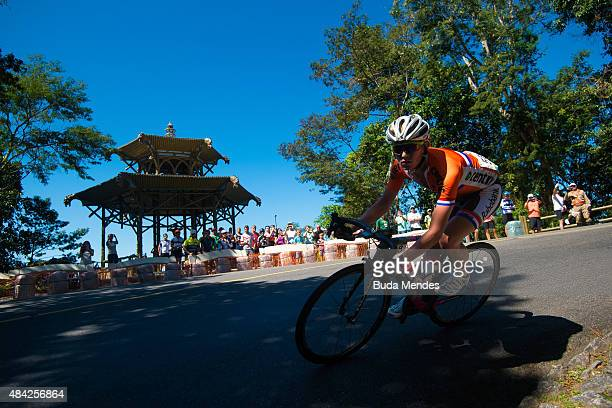 Koen Bouwman of Netherlands competes during the International Road Cycling Challenge test event ahead of the Rio 2016 Olympic Games at Vista Chinesa...