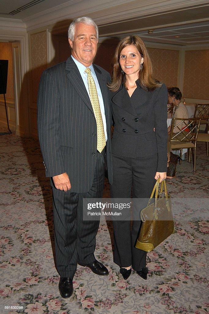 Koert Vandervoort and Catherine McNamara attend Fragrance Foundation Circle of Champions Dinner Honoring Tom Florio at St Regis Roof on October 18...