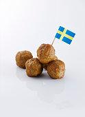 Koettbullar, Swedish meatballs with swedish flag