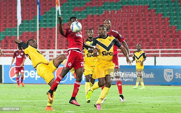 Koffi Constant Kouame of Wydad Casablanca vies for the ball during the Group A match of CAF Champions League between Wydad Casablanca and ASEC at the...