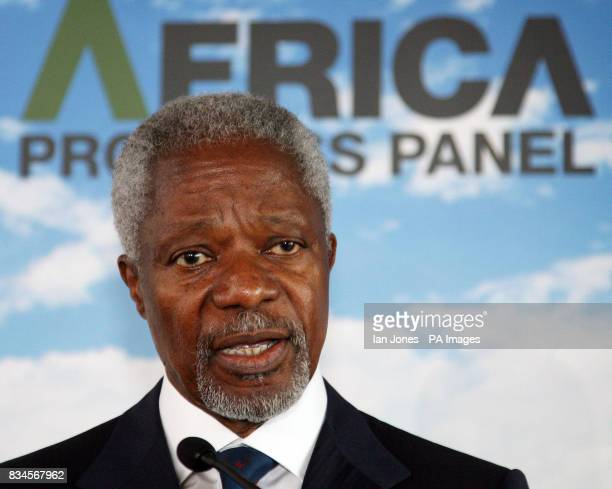 Kofi Annan Chairman of The Africa Progress Panel launches the panel's inaugural report on the state of the continent's development and how far G8...