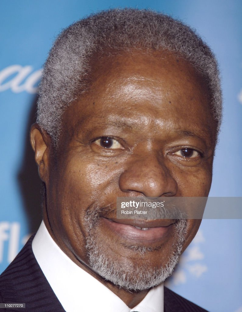 Kofi Annan during 2nd Annual UNICEF Snowflake Ball - Arrivals at The Waldorf Astoria Hotel in New York City, New York, United States.