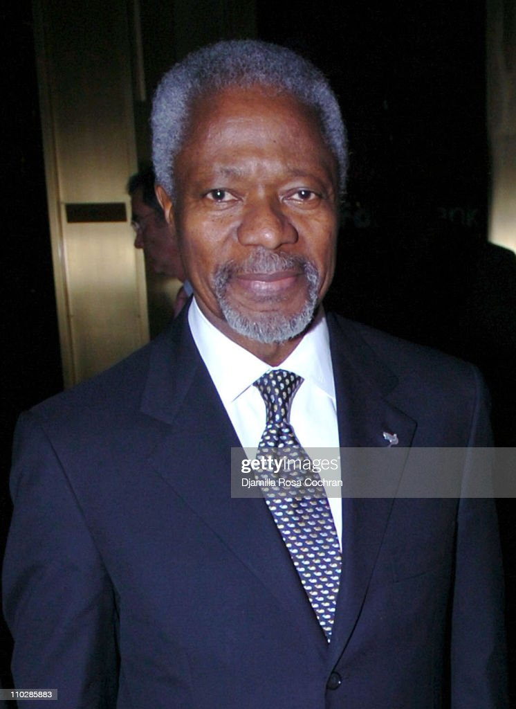 Kofi Annan during The International Women's Health Initiative Benefit Gala - January 19, 2006 at Cipriani in New York City, New York, United States.
