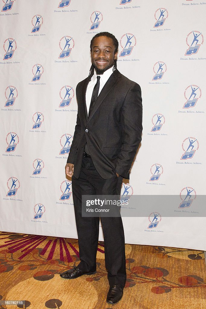 Kofi Kingston poses for a photo during the 2013 ChalleNGe Champions Gala at JW Marriott Hotel on February 26, 2013 in Washington, DC.