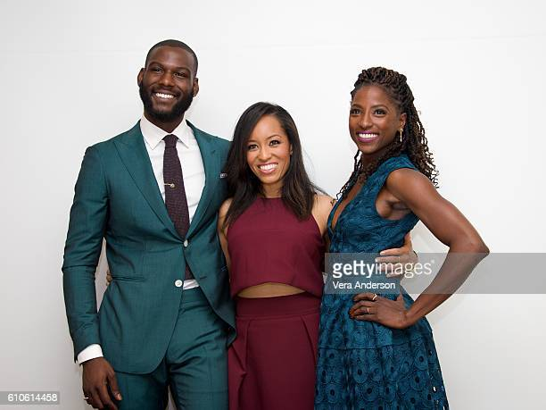 Kofi Siriboe DawnLyen Gardner and Rutina Wesley at the 'Queen Sugar' Press Conference at the Four Seasons Hotel on September 26 2016 in Beverly Hills...
