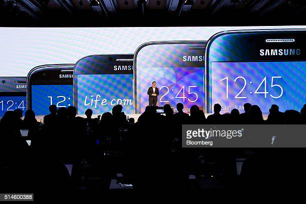 Koh Dong Jin president of mobile communications at Samsung Electronics Co speaks during a media event in Seoul South Korea on Thursday March 10 2016...