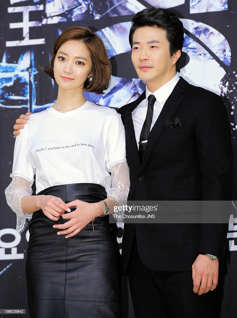 Koh Joon-Hee and <a gi-track='captionPersonalityLinkClicked' href=/galleries/search?phrase=Kwon+Sang-Woo&family=editorial&specificpeople=4141886 ng-click='$event.stopPropagation()'>Kwon Sang-Woo</a> attend the SBS Drama 'Yawang' press conference at SBS Building on January 9, 2013 in Seoul, South Korea.