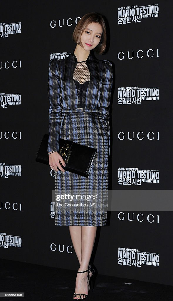 Private View' Photographic Exhibition Opening at GUCCI flagship store on October 18, 2013 in Seoul, South Korea.