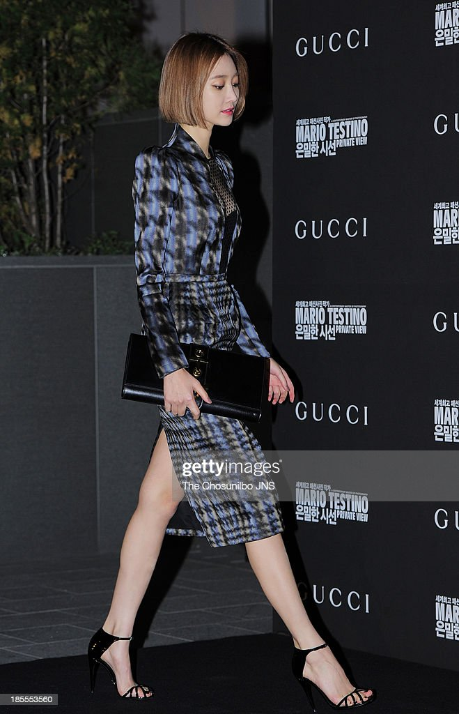 Koh Joon-Hee attends the 'Mario Testino: Private View' Photographic Exhibition Opening at GUCCI flagship store on October 18, 2013 in Seoul, South Korea.