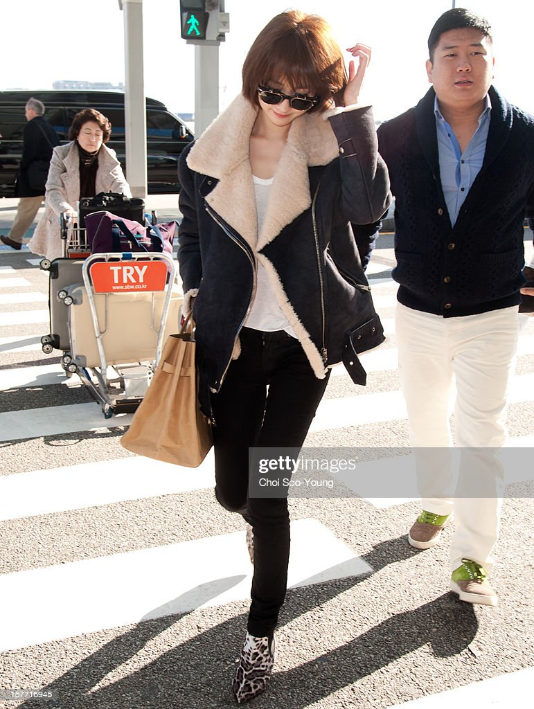 Koh Joon-Hee is seen at Incheon International Airport on December 6, 2012 in Incheon, South Korea.