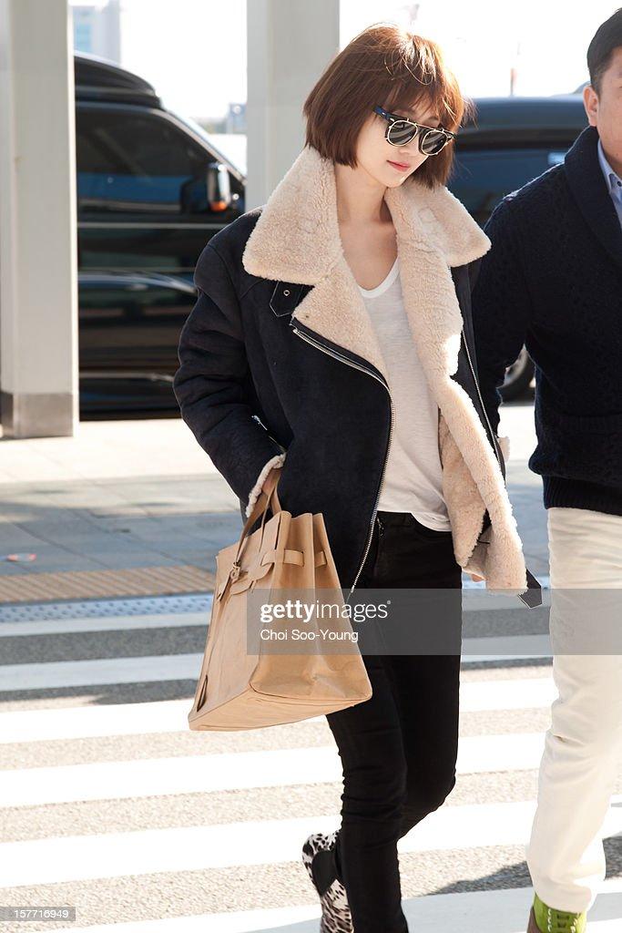 Koh Joon-Hee is seen at Incheon International Airport on December 6, 2012 in Incheon, South Korea.