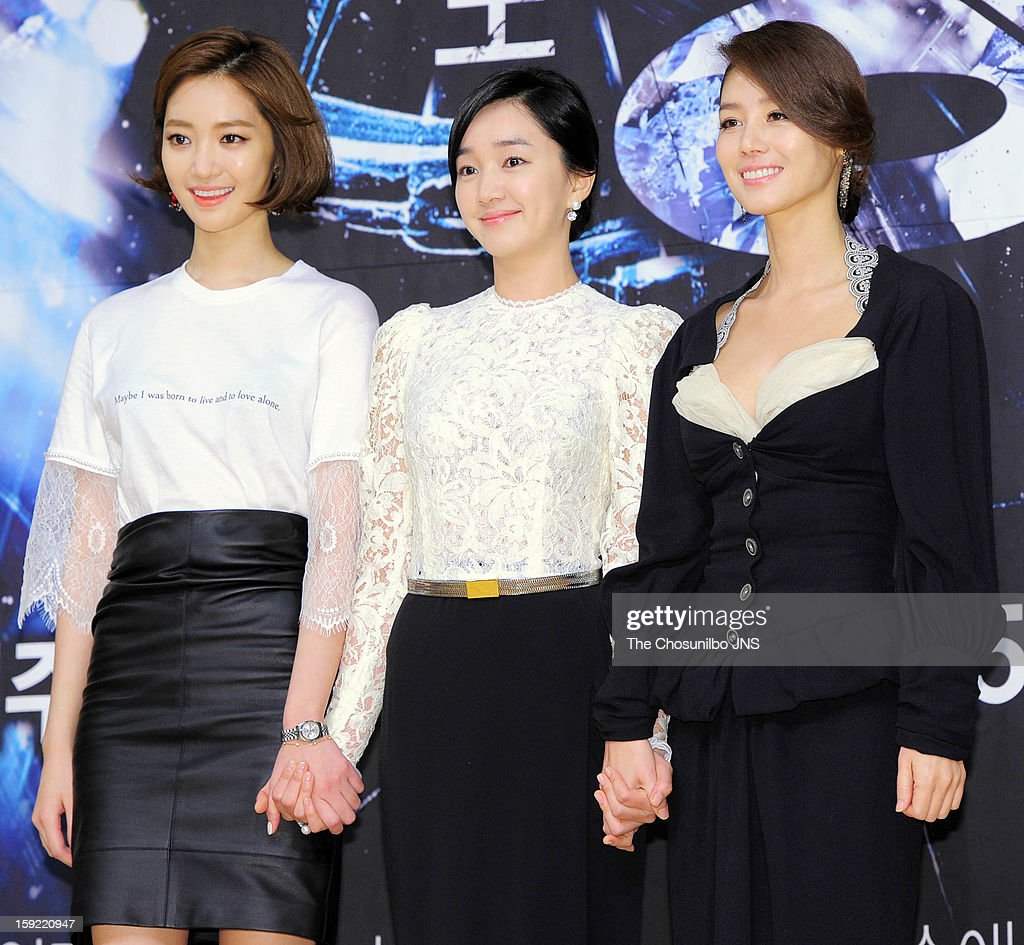 Koh Joon-Hee, Suae and Kim Sung-Ryeong attend the SBS Drama 'Yawang' press conference at SBS Building on January 9, 2013 in Seoul, South Korea.