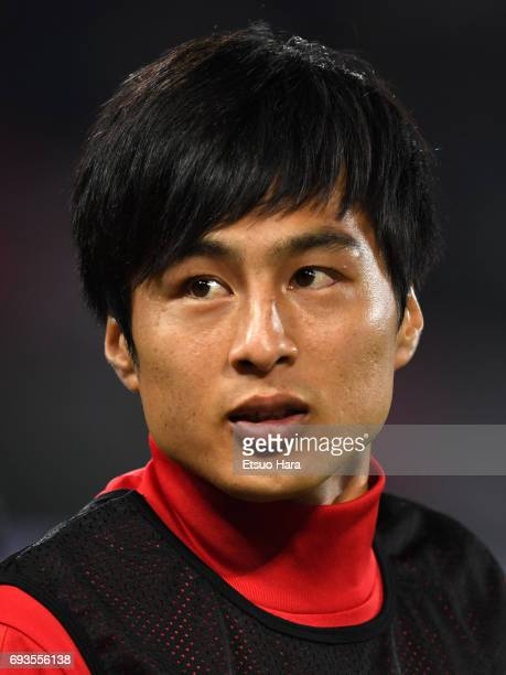 Kohei Kato of Japan looks on after the international friendly match between Japan and Syria at Tokyo Stadium on June 7 2017 in Chofu Tokyo Japan