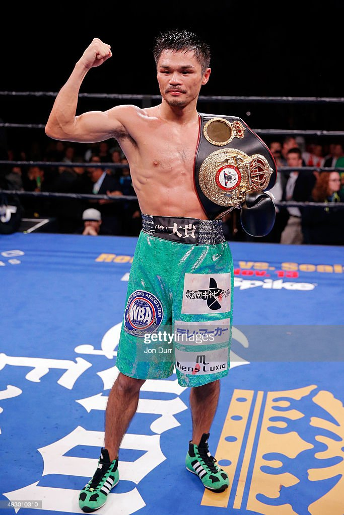 <a gi-track='captionPersonalityLinkClicked' href=/galleries/search?phrase=Kohei+Kono&family=editorial&specificpeople=5526834 ng-click='$event.stopPropagation()'>Kohei Kono</a> after defeating Koki Kameda (not pictured) in the WBA-Super Flyweight Attraction fight at UIC Pavilion on October 16, 2015 in Chicago, Illinois. <a gi-track='captionPersonalityLinkClicked' href=/galleries/search?phrase=Kohei+Kono&family=editorial&specificpeople=5526834 ng-click='$event.stopPropagation()'>Kohei Kono</a> won by unanimous decision.