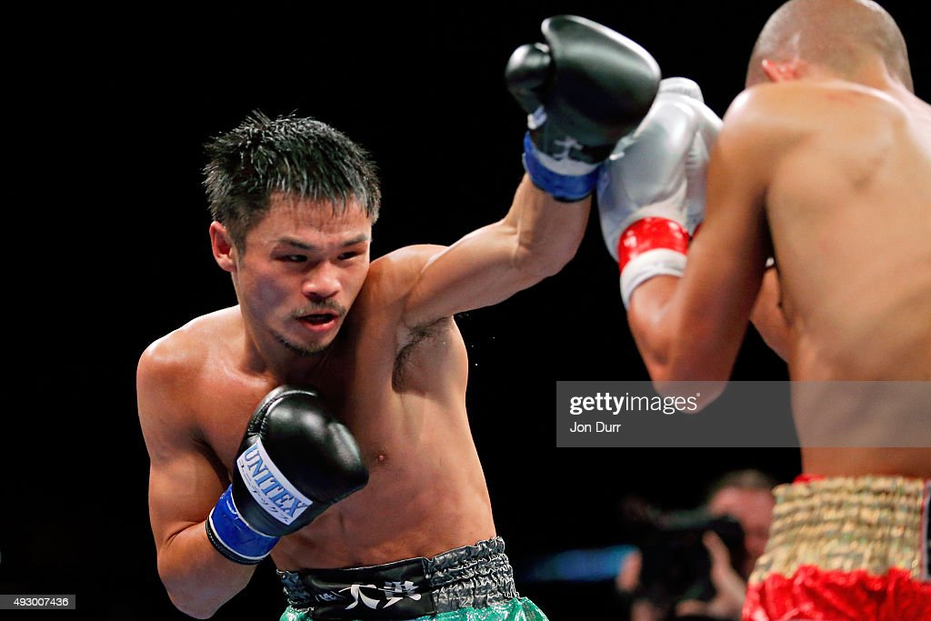 <a gi-track='captionPersonalityLinkClicked' href=/galleries/search?phrase=Kohei+Kono&family=editorial&specificpeople=5526834 ng-click='$event.stopPropagation()'>Kohei Kono</a> (L) throws a left at at <a gi-track='captionPersonalityLinkClicked' href=/galleries/search?phrase=Koki+Kameda&family=editorial&specificpeople=3964358 ng-click='$event.stopPropagation()'>Koki Kameda</a> during their WBA-Super Flyweight Attraction fight at UIC Pavilion on October 16, 2015 in Chicago, Illinois. <a gi-track='captionPersonalityLinkClicked' href=/galleries/search?phrase=Kohei+Kono&family=editorial&specificpeople=5526834 ng-click='$event.stopPropagation()'>Kohei Kono</a> won by unanimous decision.